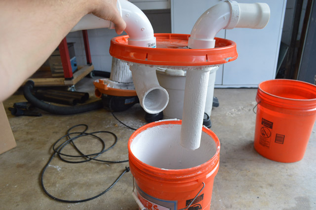 $10 bucket water filter dust collector